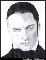 Gerard Butler - The Phantom by DisturbedPrincess