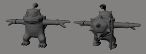 Camtro 3D model back and front by TheMekMan