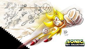 Sonic Art Collection (SUPERSONIC WALLPAPER) by darkspeeds