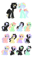 GoldenNight and Queen Prism. CLOSED by StarDust-Adoptables