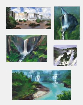 Waterfall Studies by taralynna