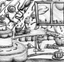 Random Drawing: Bakery by Kokokagamine