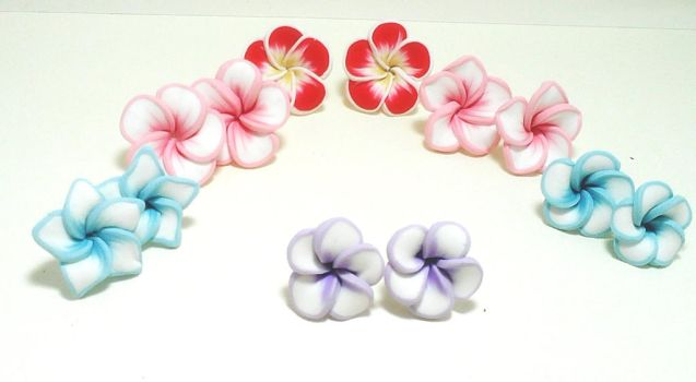 polymer clay flowers by Moguriangel