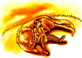 sleeping Jacob and Bella by Zedom