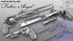 Custom Revolver - Fallen Angel by DrFe3lgo0d