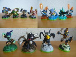 all of my skylanders by epikachu