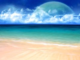 Planet/beach by BlazedFate