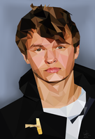 Poly-Portrait Ansel Elgort by mossaroo