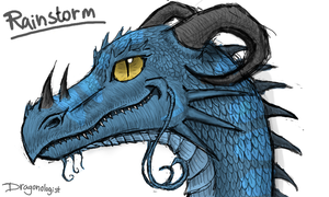 Rainstorm (Dragonology style) by Dragonologist117
