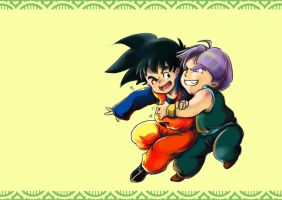 TRUNKS AND GOTEN by fairy-in-wonderland