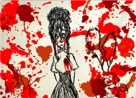 Paint My World Red and Black by RazorOctober