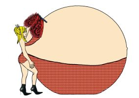 giant pregnant bellied Lucy by terynn123