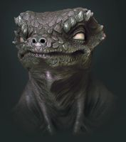 Lizard Sculpt by TLishman
