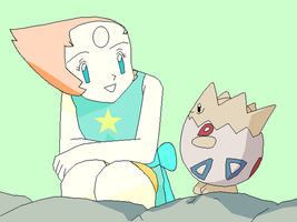 Pearl with Togepi by SuperMarcosLucky96