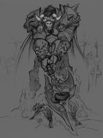 Scarm, Lich King Raider - WIP by Zeon-in-a-tree