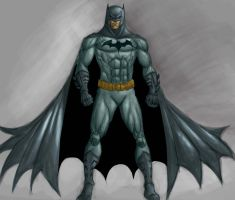 Batman digital sketch colour by dushans