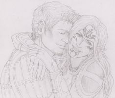DAO - Alistair and Lyna by SweetCandyRain