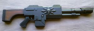 Warhammer 40k Chaos long barrel Lasgun by Matsucorp