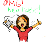 OMG TABLET YAY by LaSorciereVerte