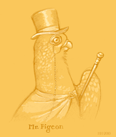 Mr. Pigeon by CanisAlbus