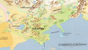 Edited Map of Equestria and Beyond (PLEASE READ) by ScisoHaelora