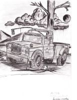 Military jeep truck by Levn