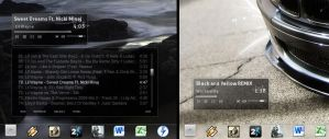 Rainify BLACK Winamp Skin by BlaCkOuT1911