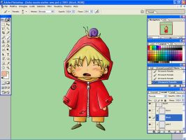 Chibi Naruto WIP - Rainy Days by Lyrin-83