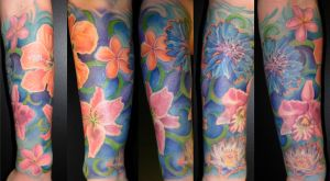 flower half Sleeve done by META-VIRUS
