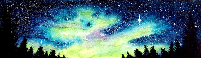 Starry Night by Sumimi-pyon