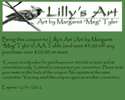 Lilly's Artist Alley Coupon 2012 by lilly-peacecraft