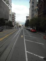 The Bay from the Hyde Street Trolley by mirengraphics