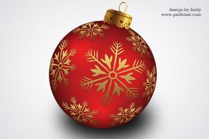 Christmas hanging ball PSD by psdblast