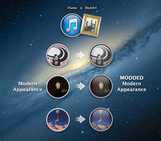 iTunes DockArt Modern Appearance Mod by probablyme
