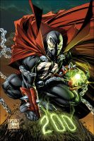 SPAWN ALTERNATIVE COVER ISSUE 200 BY ROB LIEFELD by Doarted