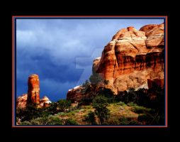 Arches National Park Storm by houstonryan