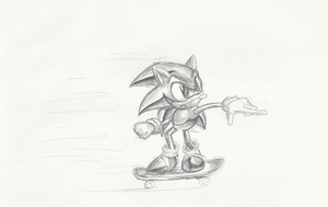 Rollin' Around at the speed of sound sketch by Hyperchaotix