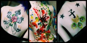 Trio Back Tattoos by LittlePieceOfResin