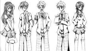 Gakuen Het sketches by synthelle