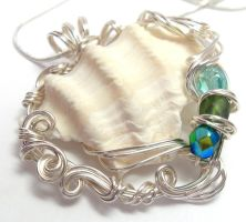 Mermaid Trinkets Necklace by sojourncuriosities