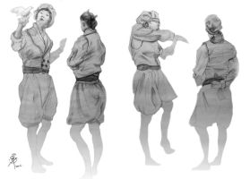 Clothed Figure Drawing - 10mins by iancjw