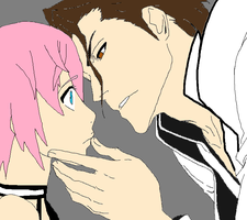 Aizen and Valerie-Almost Kiss by jenuchiha0519