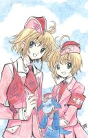 Sakura vs Sakura by Heiwa-chan by CLAMP-Club