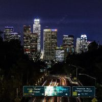Approaching downtown Los Angeles, California by matsunny