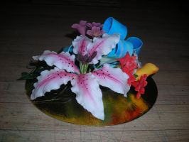 Gum Paste Flower Spray 2 by hobbitchef