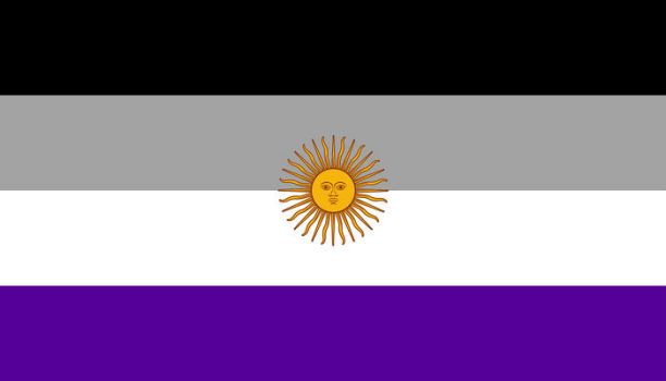 An Ace Pride flag of Argentina by BlueCerinthe