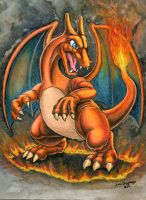 Fire Dragon Charizard by Legrandzilla