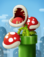 Piranha Plant by Ribera