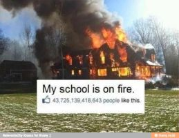 My school is on fire by boeingboeing2