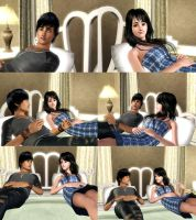 Sims 3: Azim and Sumire by ayea28